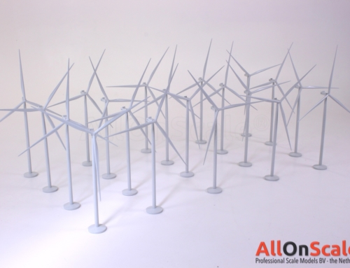 Desk top wind turbine models