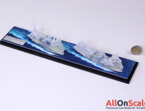 3D Printed models: ships on water